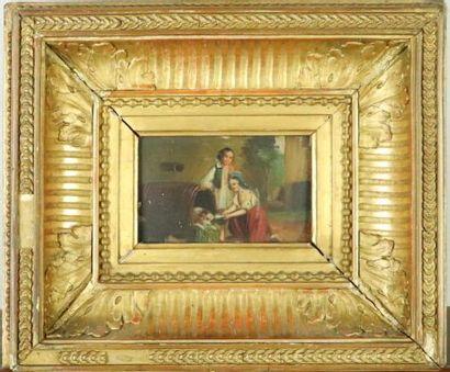Ecole française du XIXème siècle.  chien...