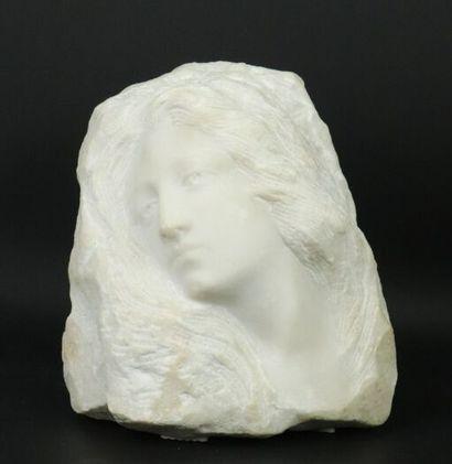 Léon BINET (1880-1958).  Profil de femme,...