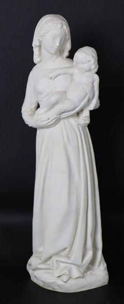 Henri BOUCHARD (1875-1960) et SEVRES.  Vierge...