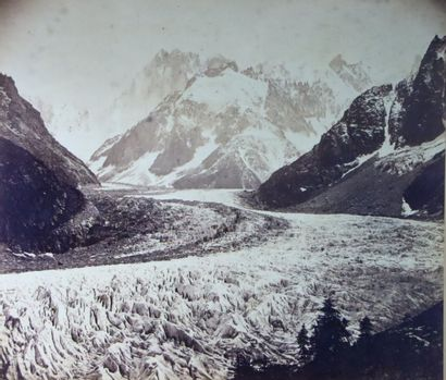 Gabriel JOGUET (1829 - ?).  Vallée de Chamonix,...