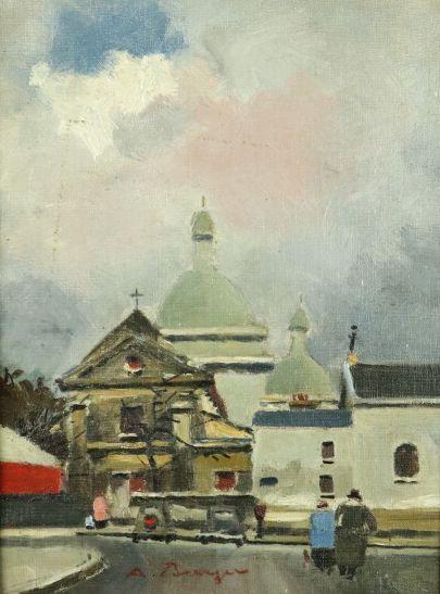 Anton BURGER (1824-1905).  Paris, vue sur...