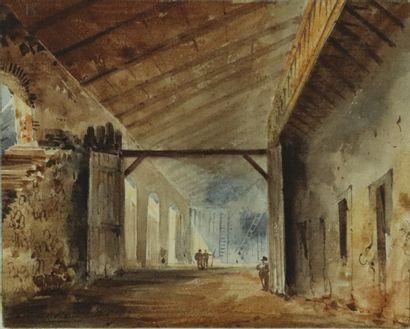Eugène CICERI (1813-1890)  L'intérieur animé...