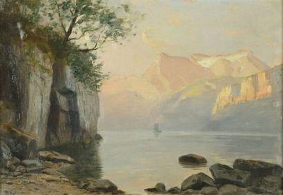 Paul Gustave I ROBINET (1845-1932).  Vue...