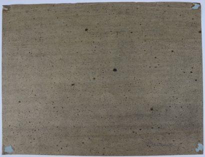 Alexandre Gabriel DECAMPS (1803-1860).  La casbah.  Fusain.  Monogrammé en bas à...