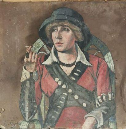 Georgette AGUTTE (1867-1922).  Femme à la...