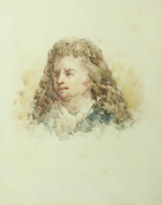 Théodule RIBOT (1823-1891).  Portrait présumé...