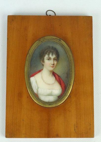 COURTOIS (actif au XIXème siècle),  Portrait...