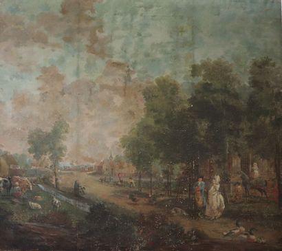 Ecole Française du XVIIIème siècle.  Scène...