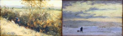 Francis TATTEGRAIN (1852-1915).  Paysages...