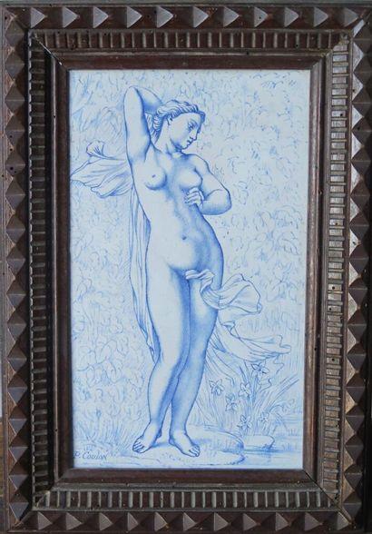NEVERS, Pierre COULON.  Femme nue et drapé....