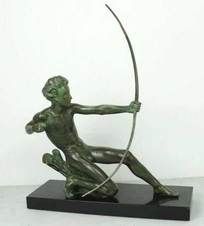 Max LE VERRIER (1891-1973),  Tireur à l'arc....