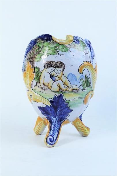 NEVERS, Emile GEORGES.  Vase de forme oeuf...