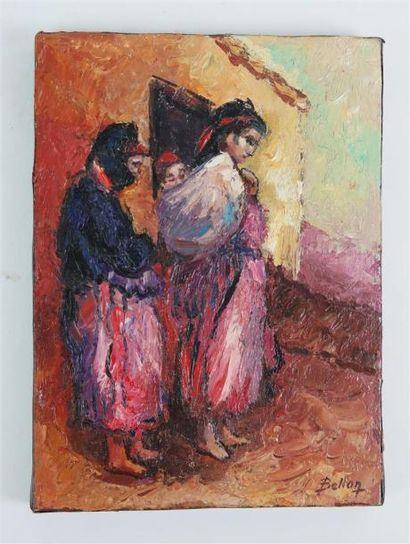 Pierrre BELLON (1930-).  Femmes kabyles ceintes...