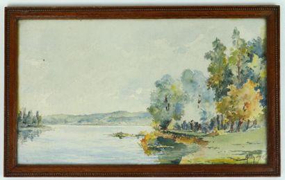 Aimé BLIN (1872-1944)  La Loire près de Nevers....