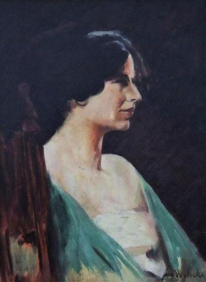 Augustin ZWILLER (Alsace 1850-1939).  Portrait...