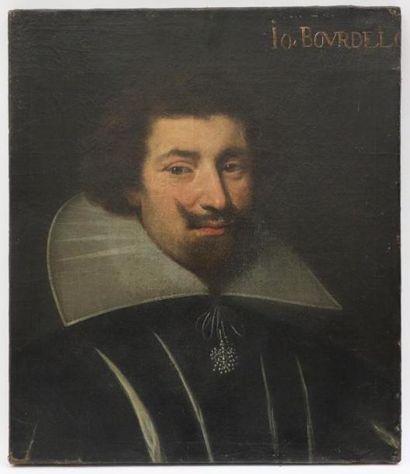 Ecole française vers 1630.  Portrait de Jean...