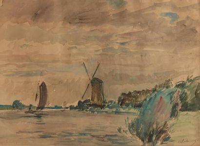 Albert LEBOURG (1849-1928)  La Meuse et le...