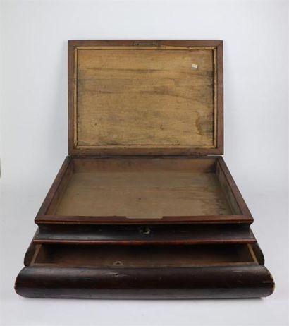 Important coffret de changeur ancien en bois...