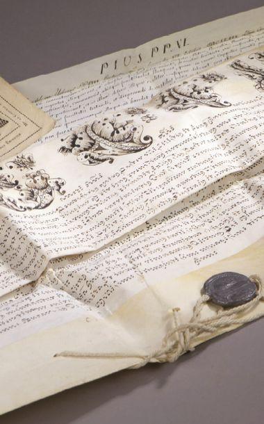 BULLE PAPALE DE PIE VI (1717-1799). Bulle...