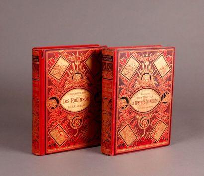 COMPASS (L-H.). (Two books). ADVENTURES D'UN...