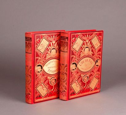 COMPASS (L-H.). (Two books). VOYAGES ET AVENTURES...