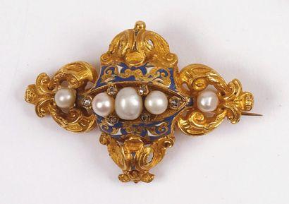 PARURE en or jaune, comprenant un bracelet,...