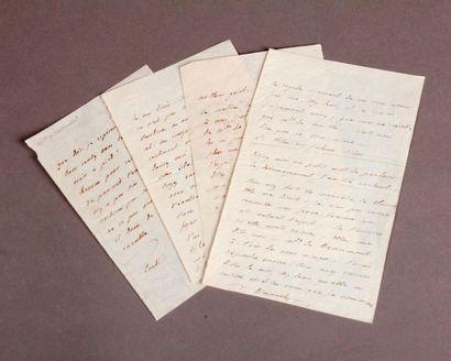 [Pauline de Beaumont] Four autograph letters...