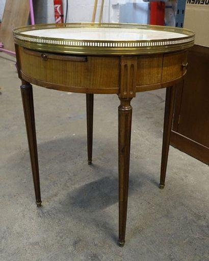 Table de bouillotte en bois de placage, ouvrant...