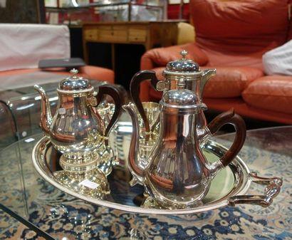 CHRISTOFLE. Service à thé-café quatre pièces...