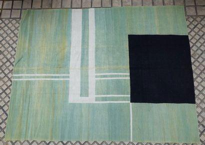 Tapis en laine à motifs géométriques, carré...