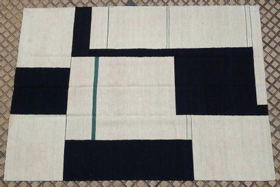 Tapis en laine à motifs géométriques de...
