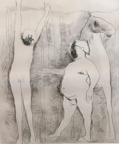 Marino MARINI (1901-1980)   Deux personnages...