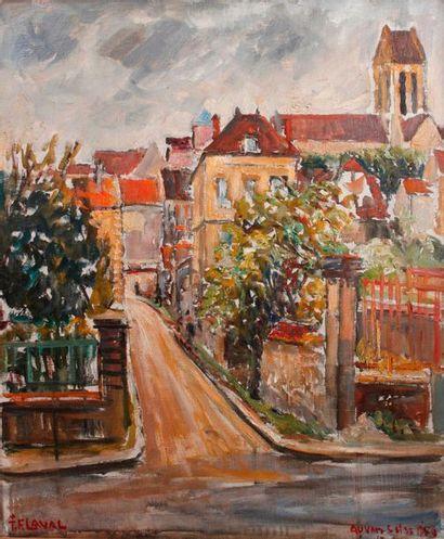 Fernand LAVAL (1886-1966)   Auvers-sur-Oise...