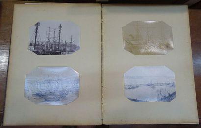 Deux albums de photos XIXe siècle: Navires...