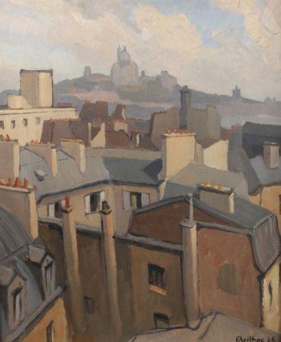REILHAC (XXe siècle)  Les toits de Montmartre...