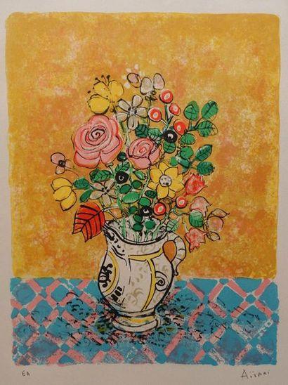 Paul AIZPIRI (1919-2016)  Bouquets de fleurs....