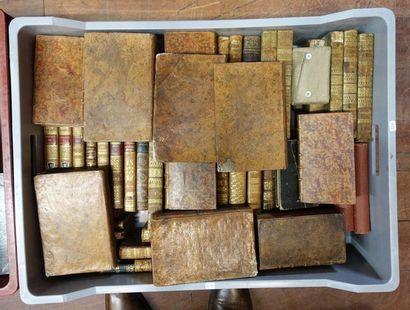 Deux Mannette de volumes reliés XVIIIe et...