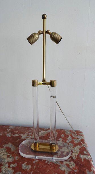 Pied de lampe portique à deux colonnettes...