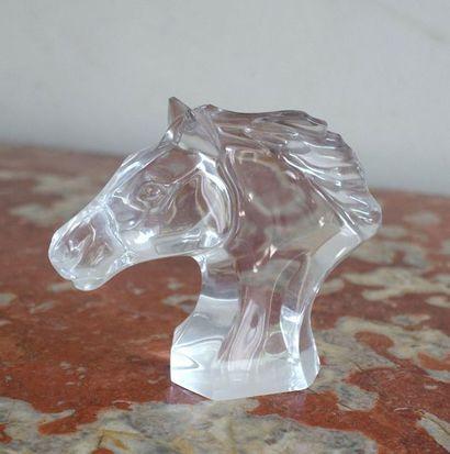 BACCARAT France. Tête de cheval en cristal...
