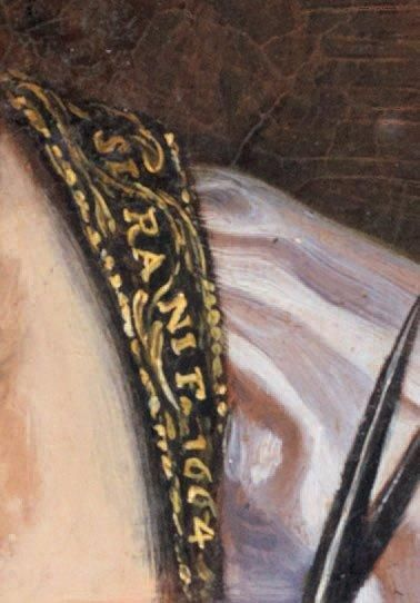 Elisabetta SIRANI (1638 - 1665) Bérénice II d'Egypte Toile. Signé et daté sur la...