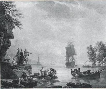 Claude Joseph VERNET (1714 - 1789) Retour de pêche dans un port méditerranéen au...
