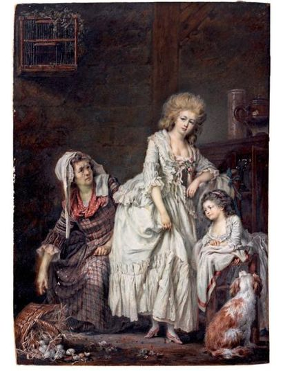Attribué à Pierre Alexandre WILLE (1748 - 1821)