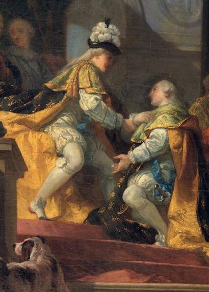 Gabriel François DOYEN (1726 - 1806) Louis XVI reçoit à Reims, après son sacre, les...