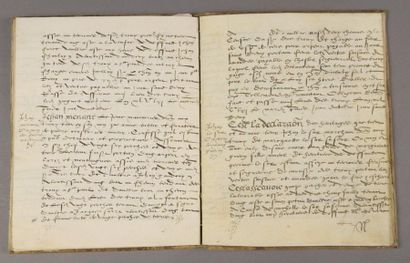 [Terrier of the Holey Lordship]. Signed manuscript,...