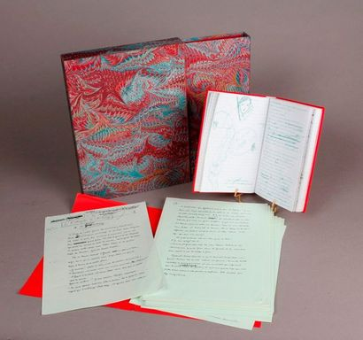 [Two manuscripts] JOURDAN (Eric). Autograph...