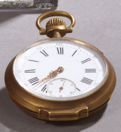 Yellow gold GOUSSET WATCH, the reverse side...
