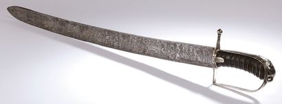 Short SABRE, silver hilt with one branch...