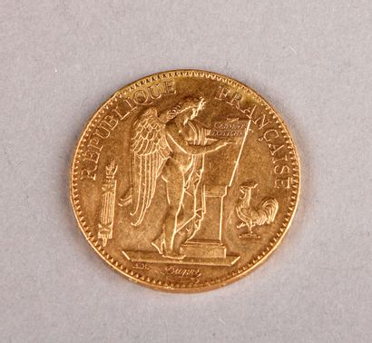 100 FRANCS GOLD GENIE COIN, 1881