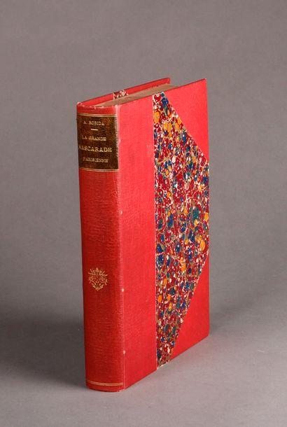 Albert ROBIDA The Great Parisian Masquerade. Text and drawings by Robida. 500 drawings...