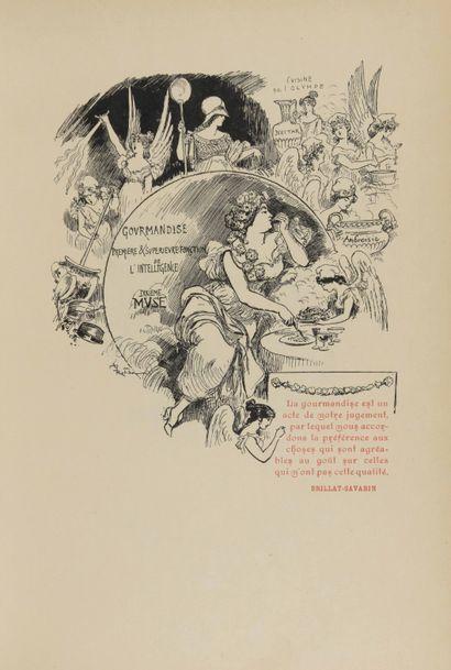 Albert ROBIDA illustrateur The Aphorisms of Brillat Savarin. No publisher's name...